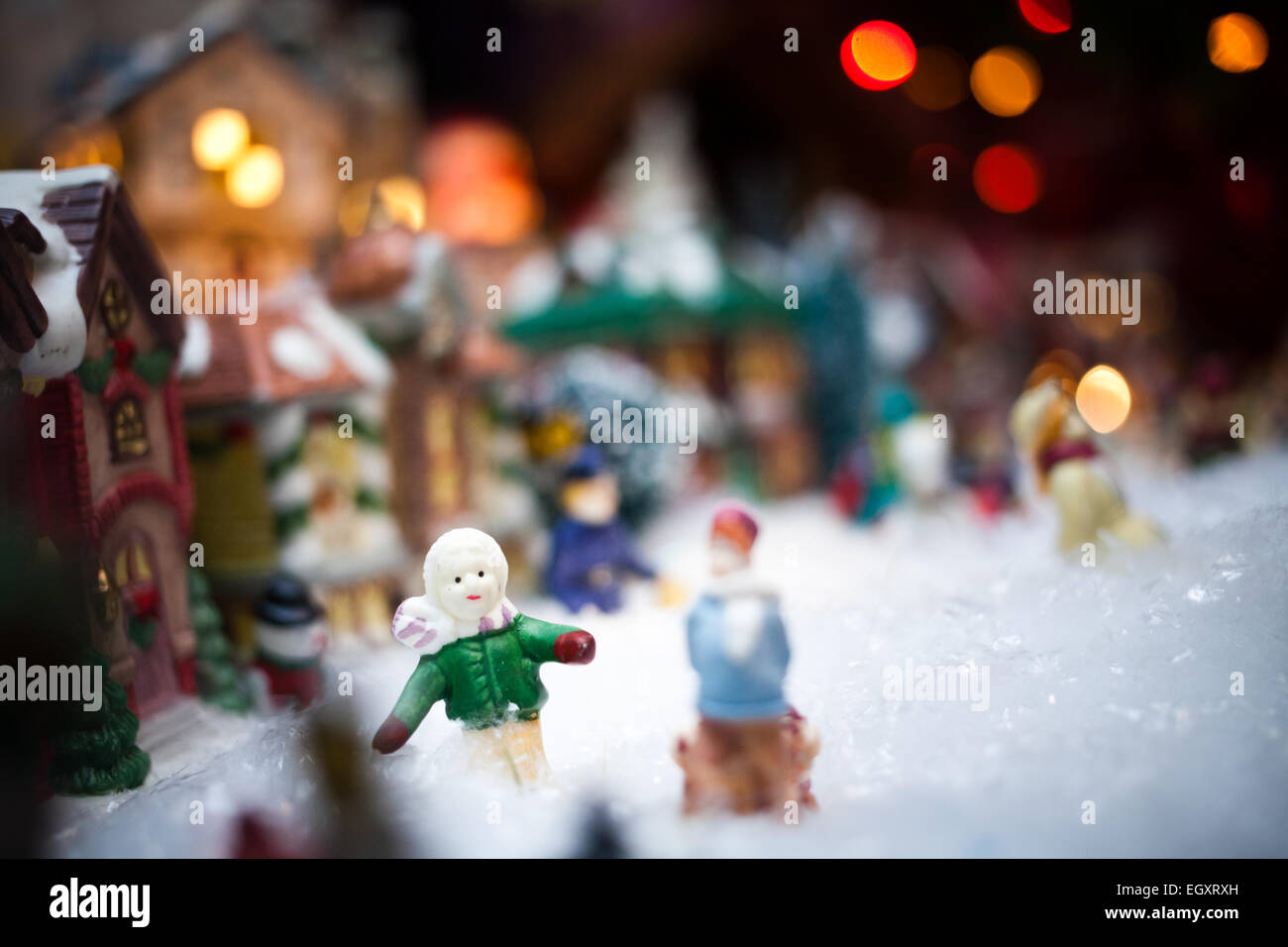 Miniature Christmas Village Stock Photos Miniature Christmas