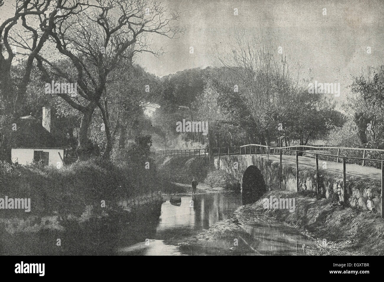 A Bridge on the road at Mombray - A pretty suburb of Cape Town, South Africa, circa 1895 - Stock Image