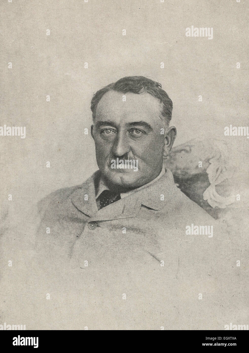 Cecil J Rhodes.  Said to have been taken growling before breakfast. 1890s - Stock Image