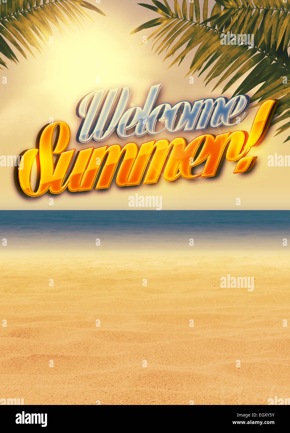 Summer Holiday Travel Party Advert Poster Or Flyer Background With Empty Space