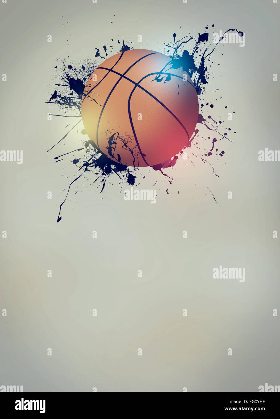 abstract basketball sport invitation poster or flyer