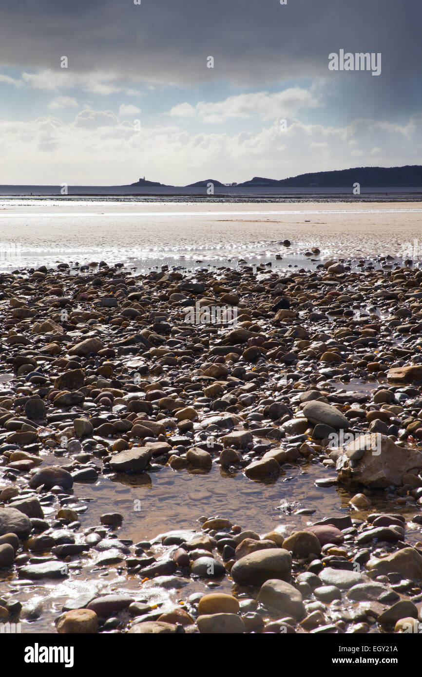 View of Swansea beach. - Stock Image