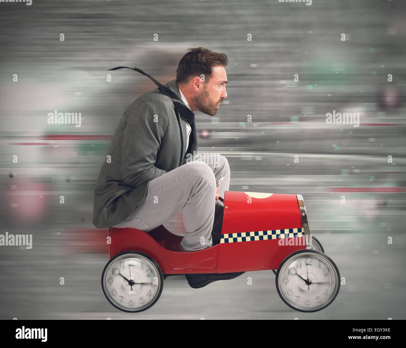 Race against time - Stock Image