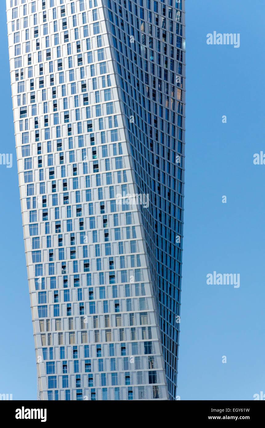 Cayan Tower, Dubai Marina, UAE - Stock Image