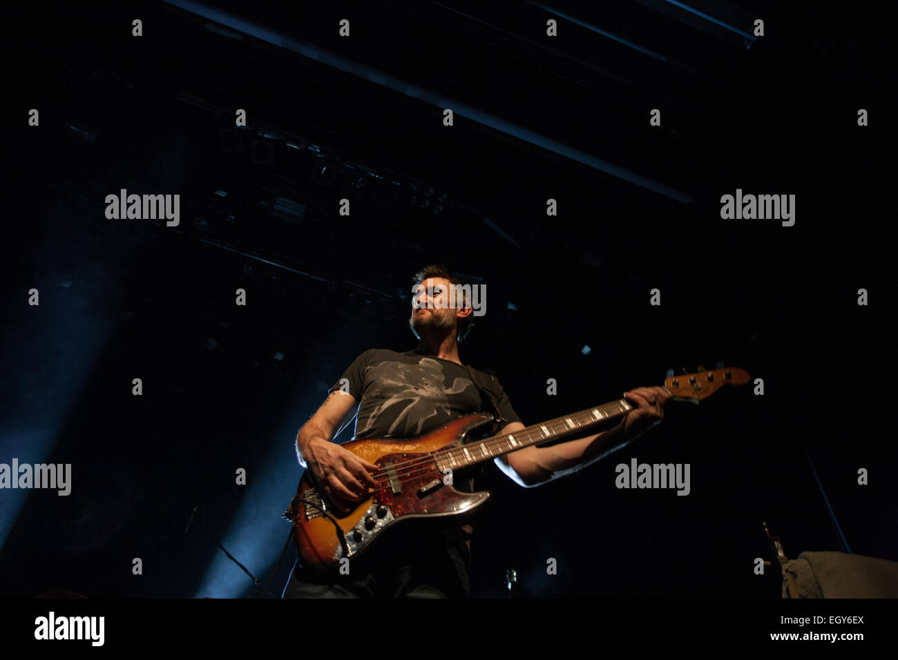 Ljubljana, Slovenia. 3rd March, 2015. UK electronic band Lamb (Lou Rhodes and  Andy Barlow) preforming on stage - Stock Image