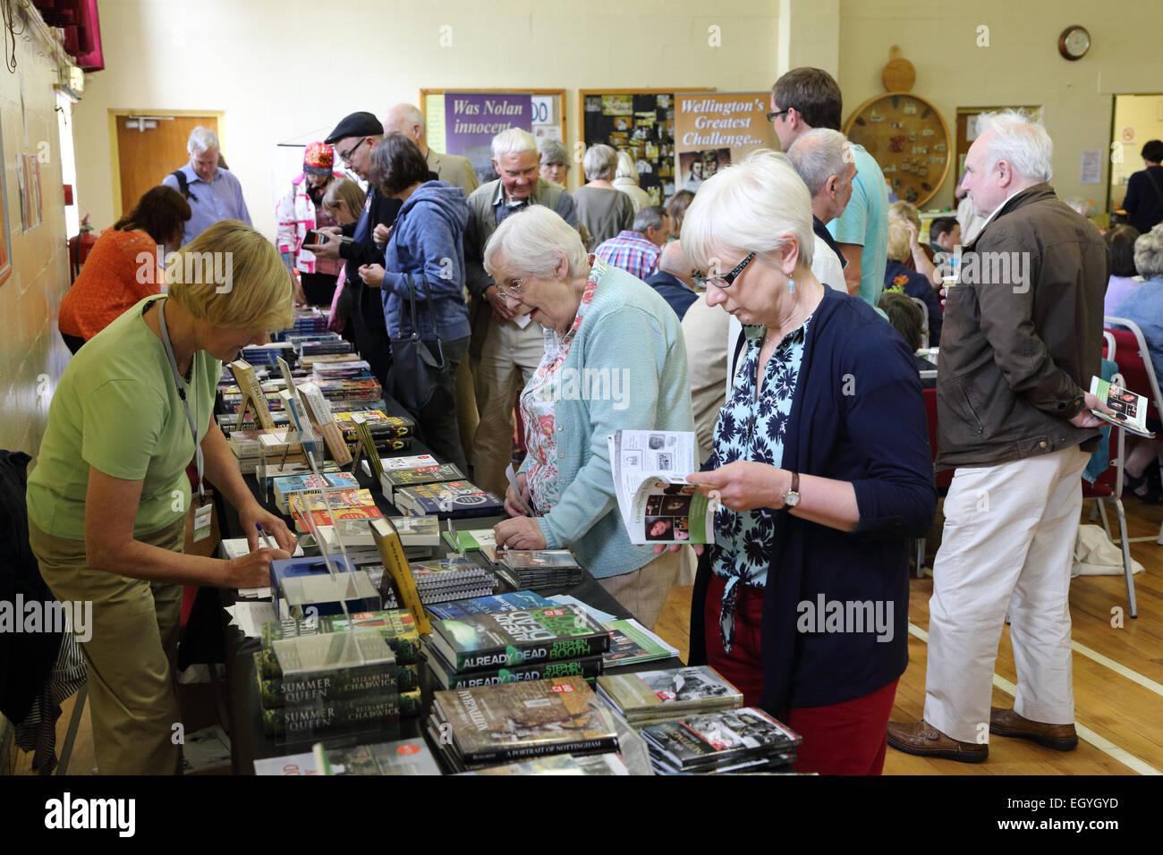 Lowdham Book Festival Notts - Stock Image