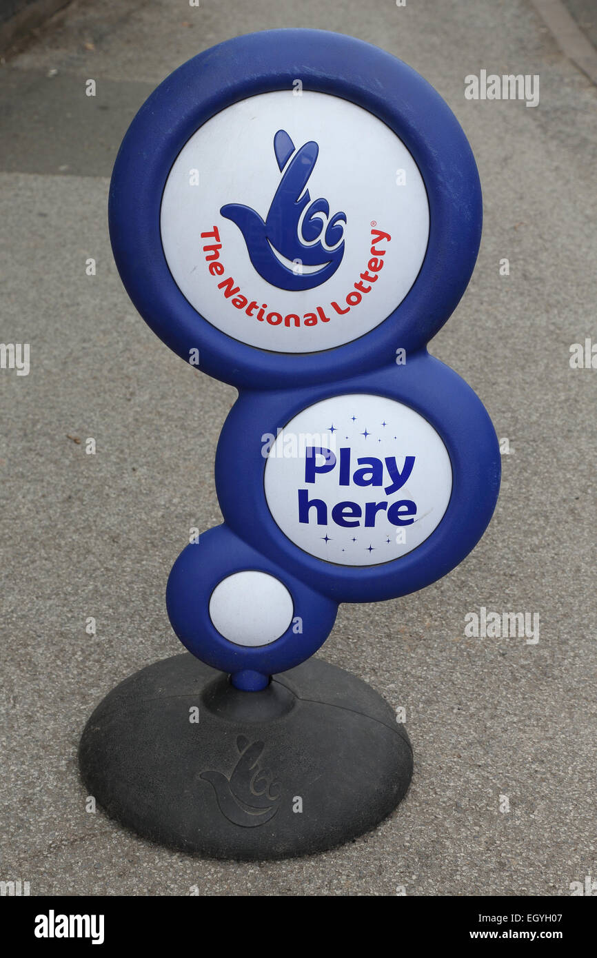 National Lottery Sign - Stock Image