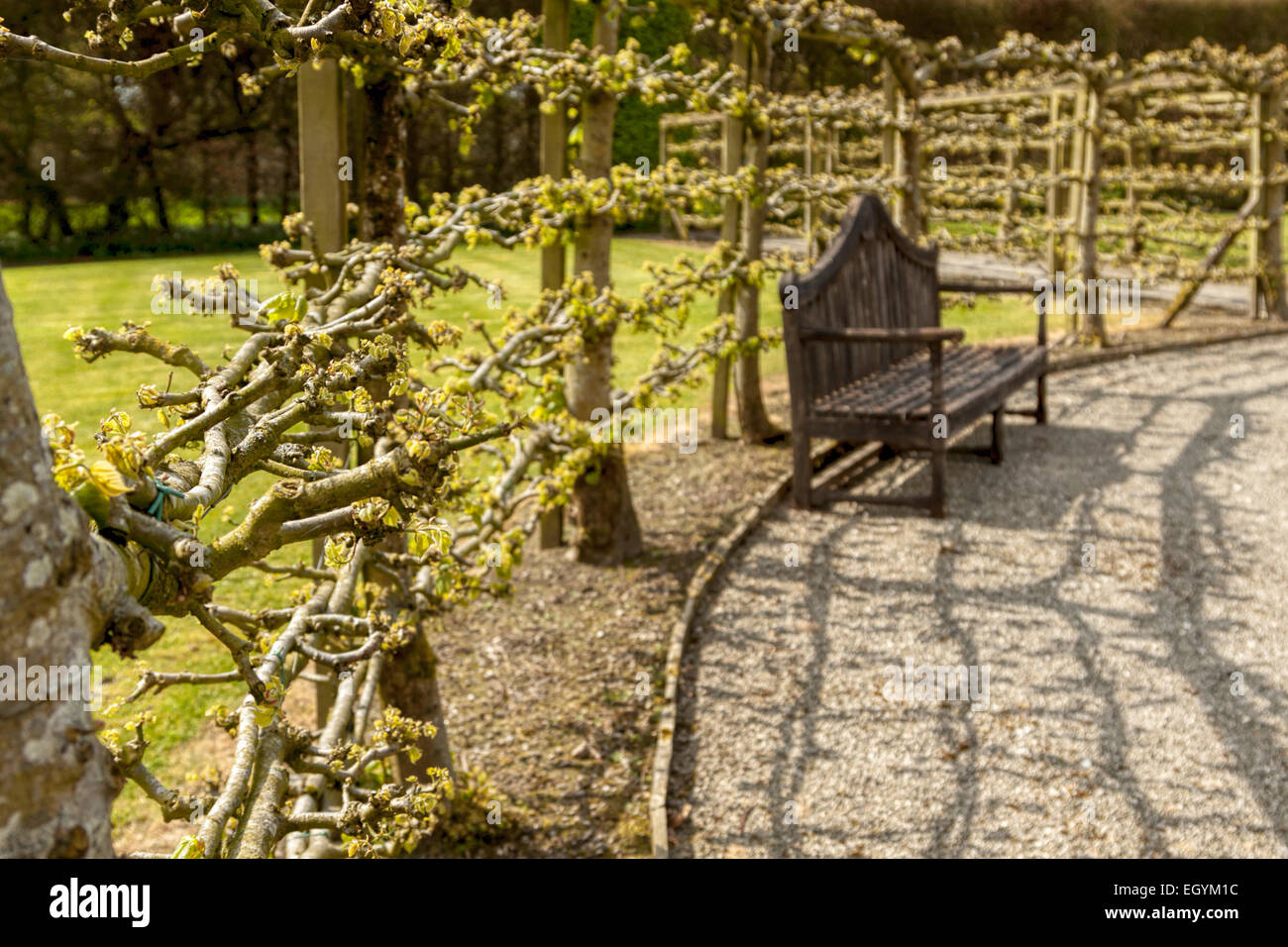 Reflections in the Fountain Garden of Levens Hall at Levens Hall ...