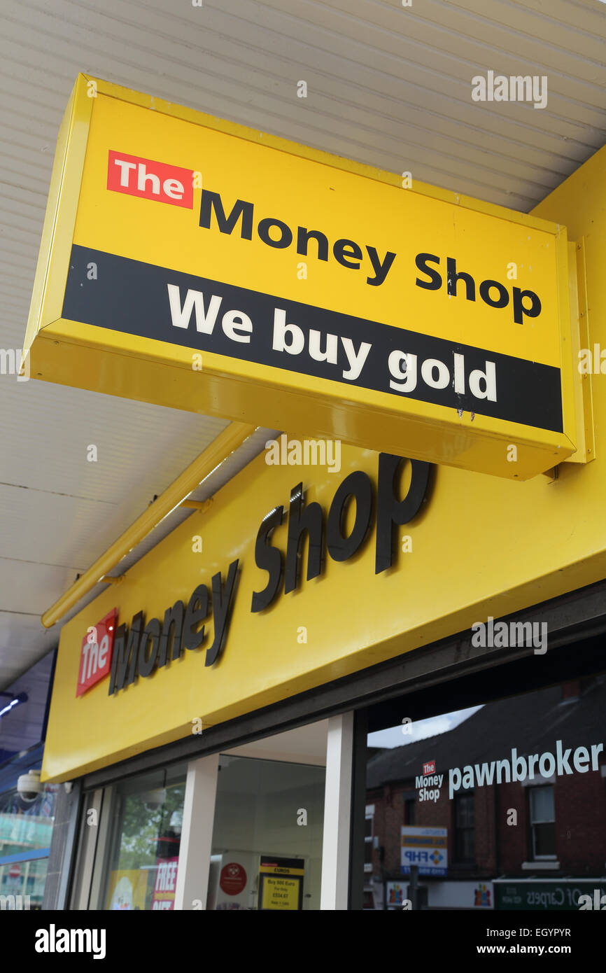 Sign advertising purchase of gold - Stock Image