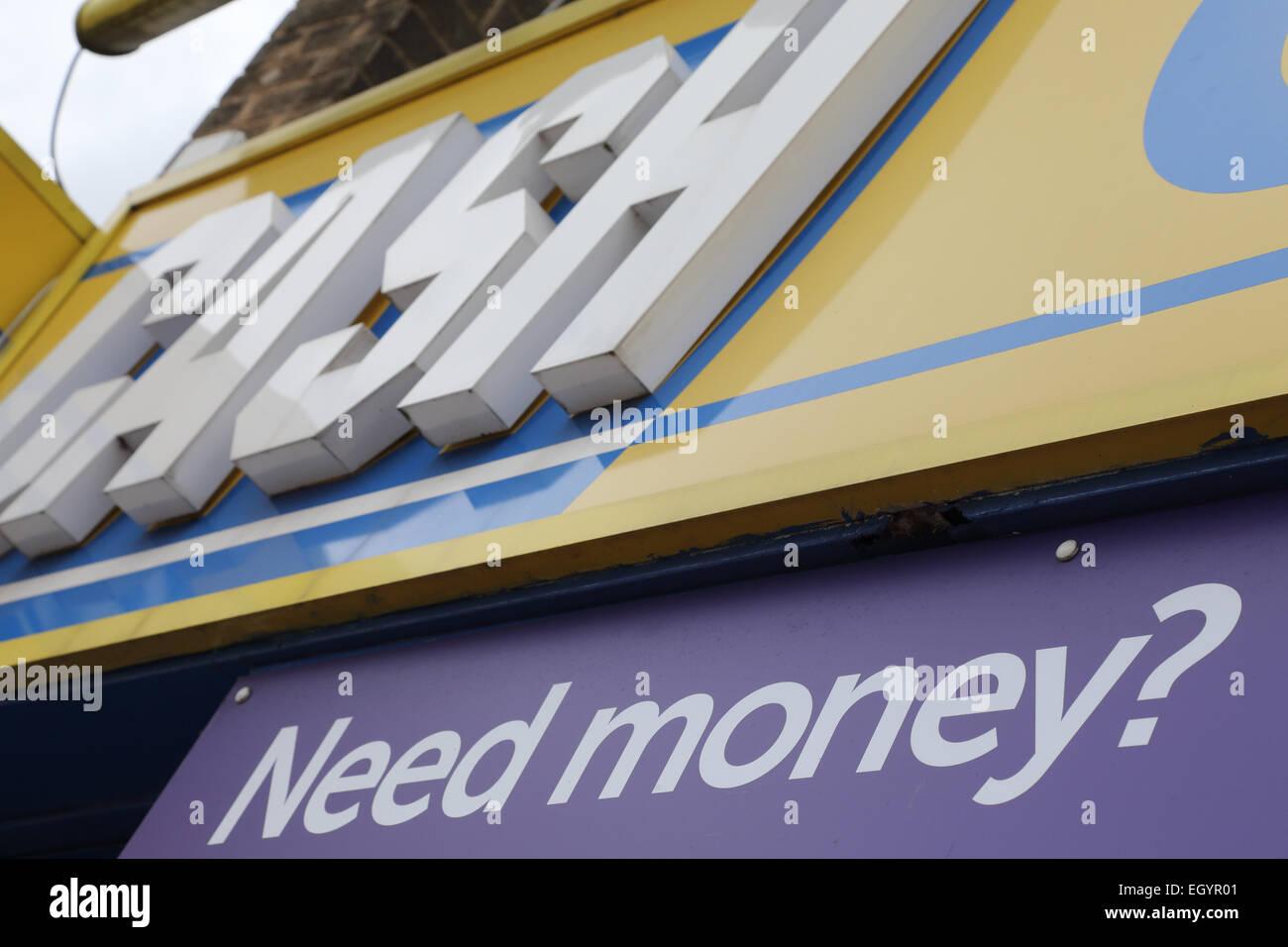 Sign on loanshop or pawnshop - Stock Image