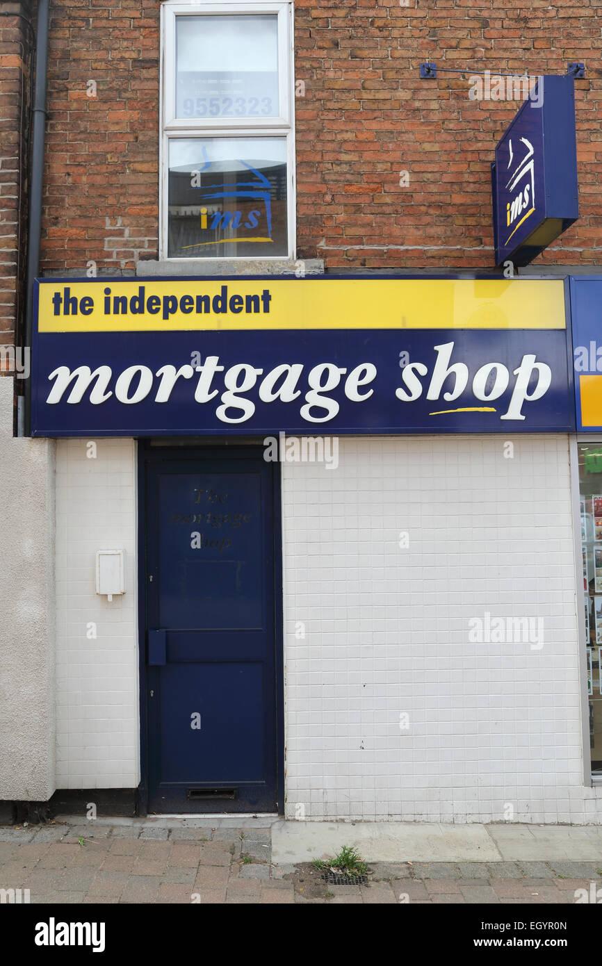 Mortgage shop - Stock Image