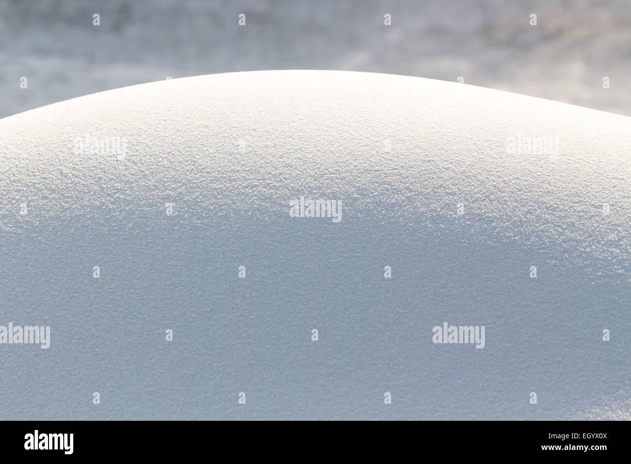 Snowdrift fresh snow - Stock Image