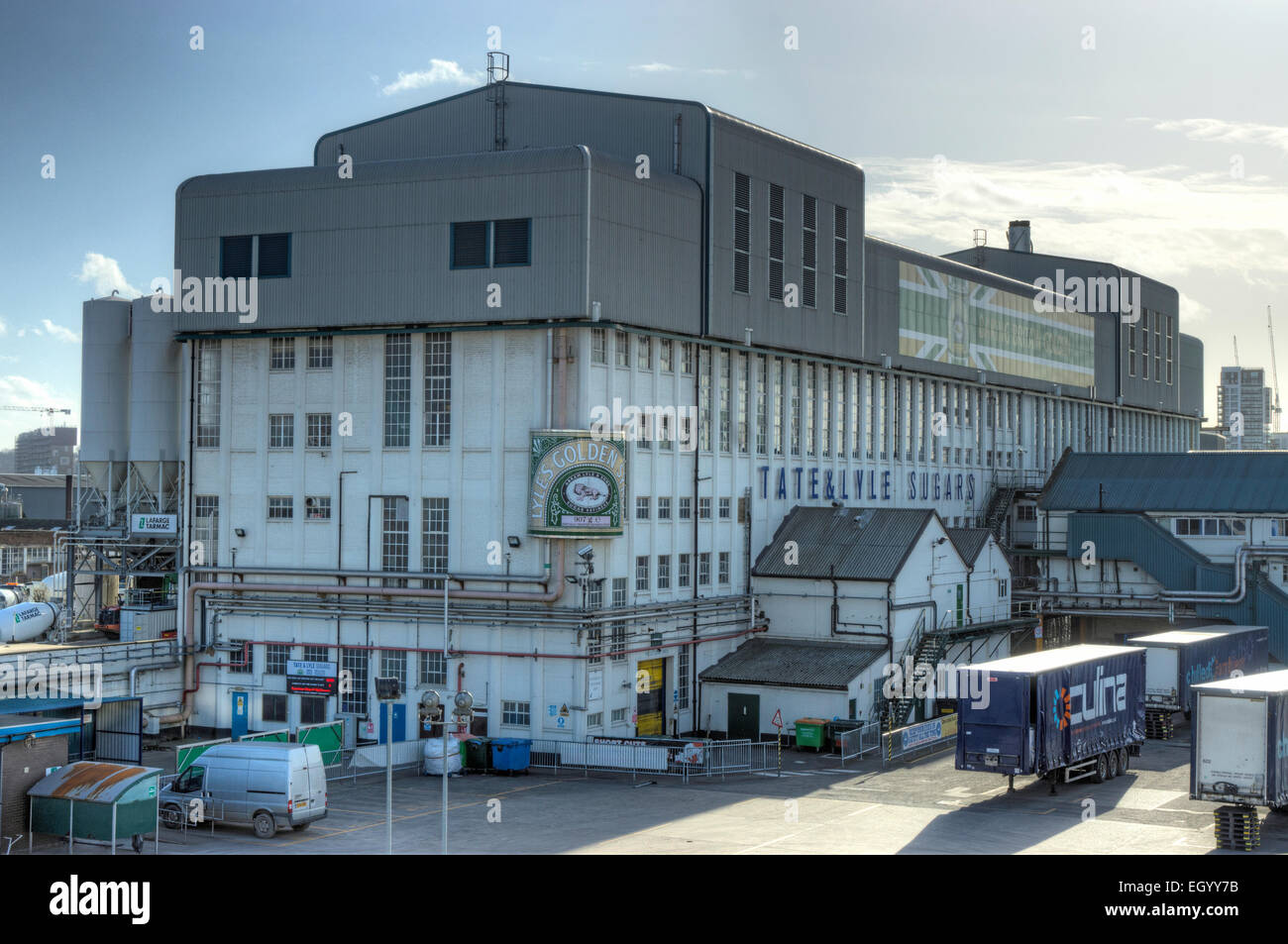 tate and Lyle Factory, Silvertown,  London sugar factory - Stock Image