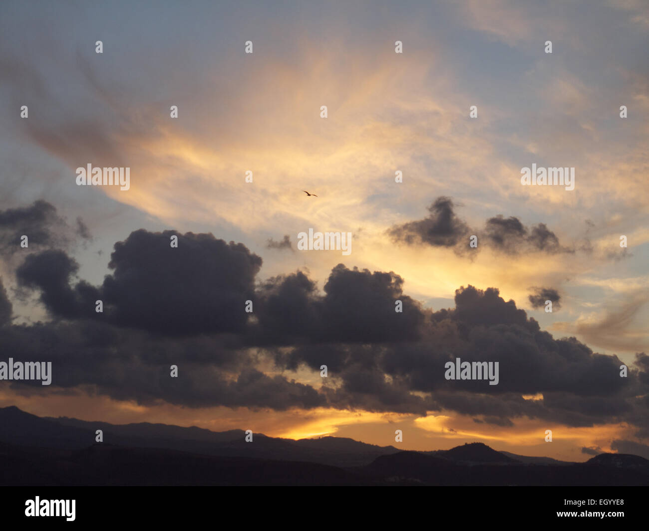 Sunset Las Palmas Canary Islands - Stock Image