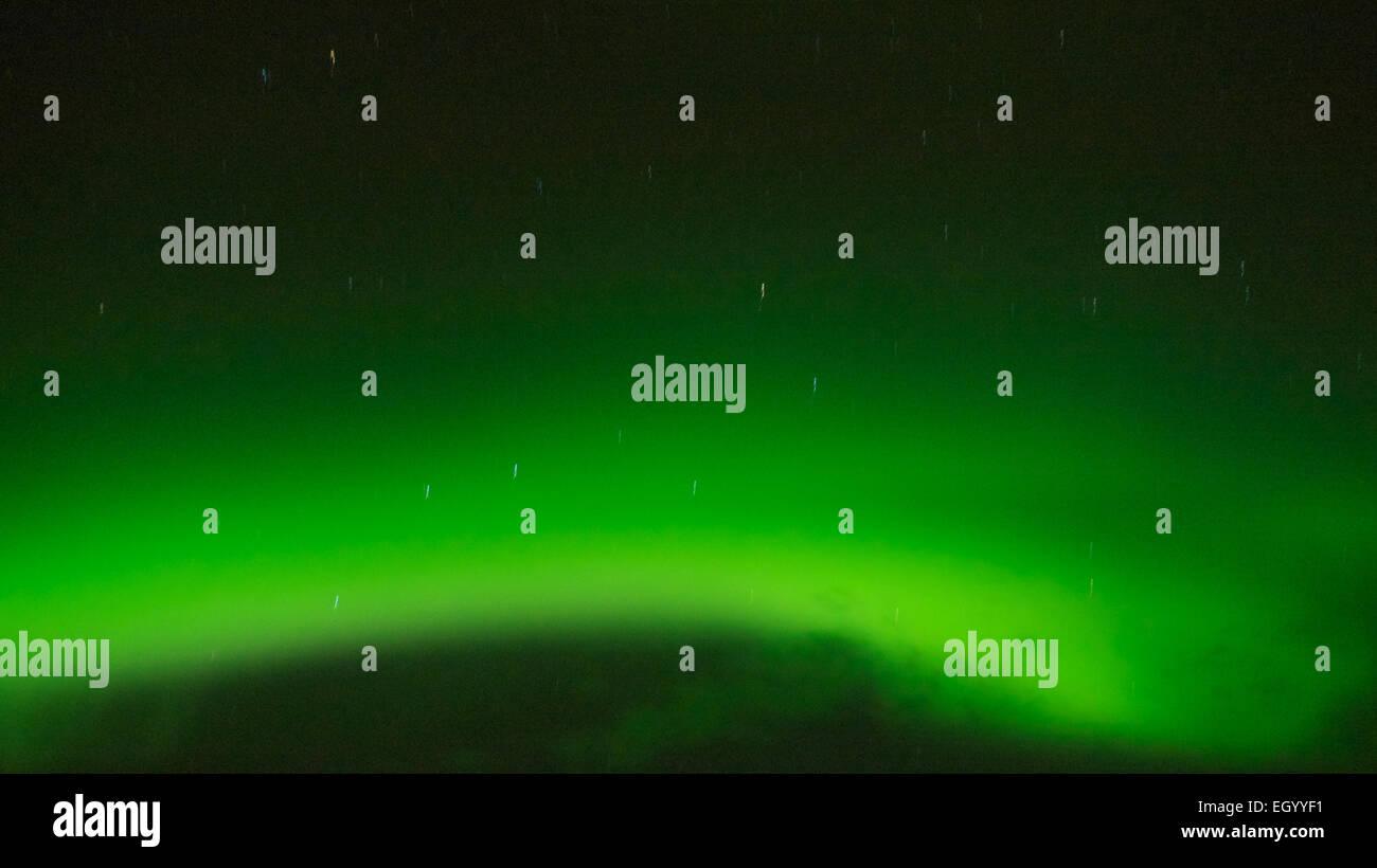 Northern lights Iceland - Stock Image