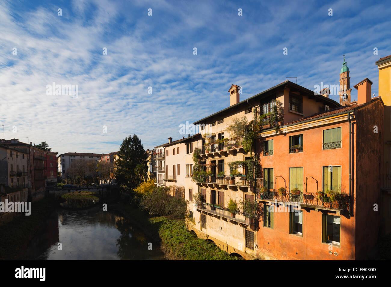 Europe, Italy, Veneto, Vicenza, Unesco World Heritage Site - Stock Image