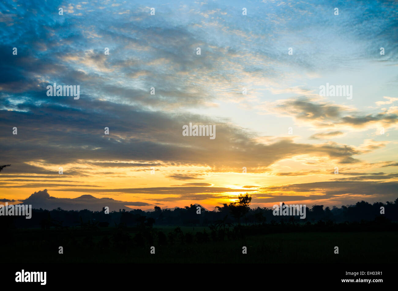[the sun rises in the east] beautiful view, colorful - Stock Image