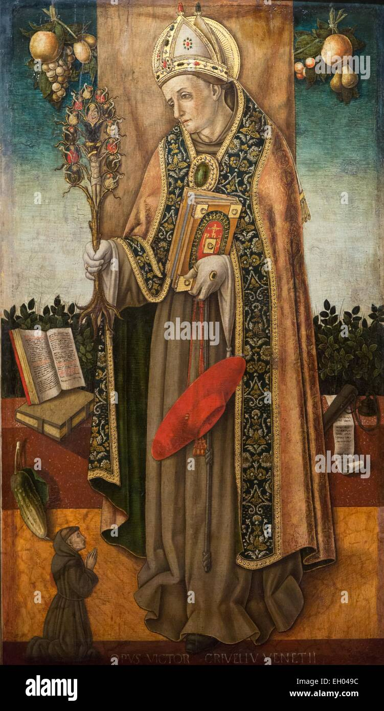 ActiveMuseum_0003608.jpg / Saint Bonaventure holding the redemption tree 08/01/2014  -   / XVth century Collection - Stock Image