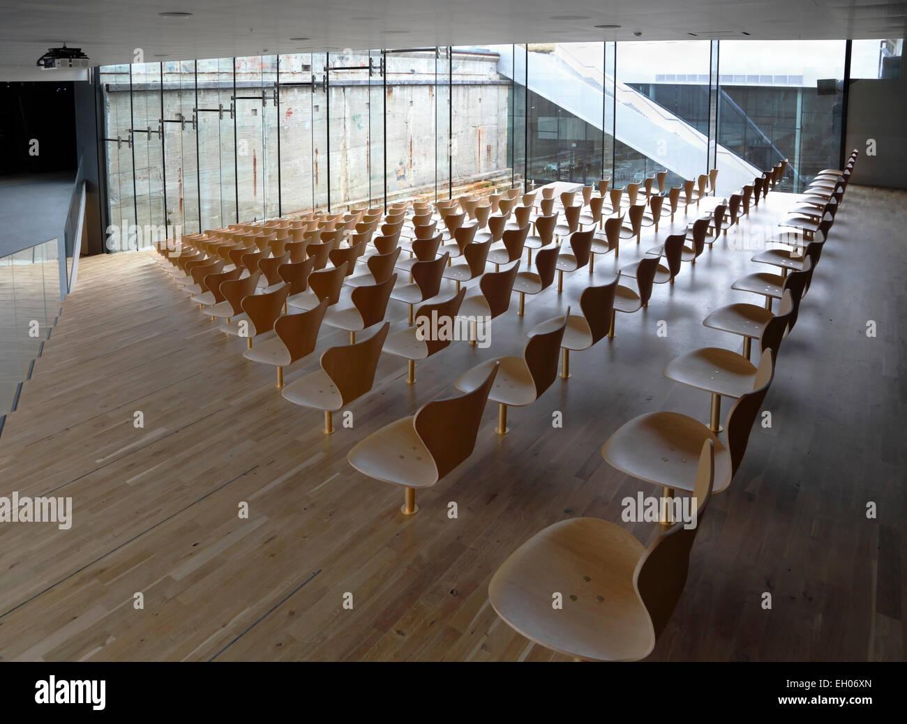 Lecture Theatre at the Maritime Museum of Denmark, M/S Museet for Søfart, Elsinore / Helsingør  Denmark. - Stock Image