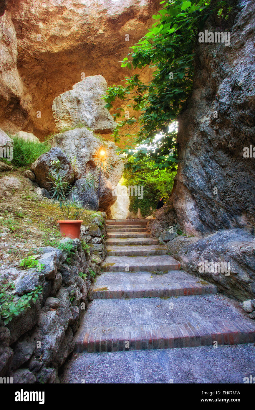 Latomia Capuchin, ancient greek quarries of Syracuse, Sicily - Stock Image