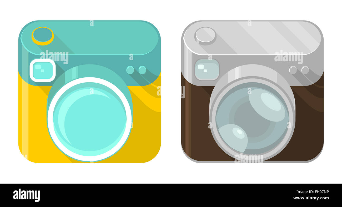 Camera Vintage Vector Free : Vector set of camera icons in modern and vintage design styles stock