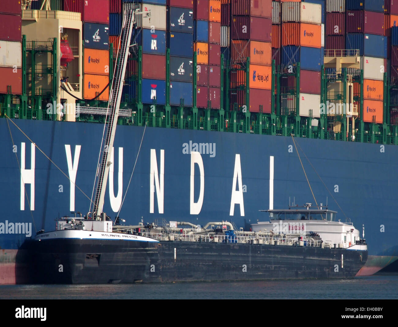 Atlantic Prestige ENI 02333489, Amazonehaven, Port of Rotterdam, pic1 - Stock Image