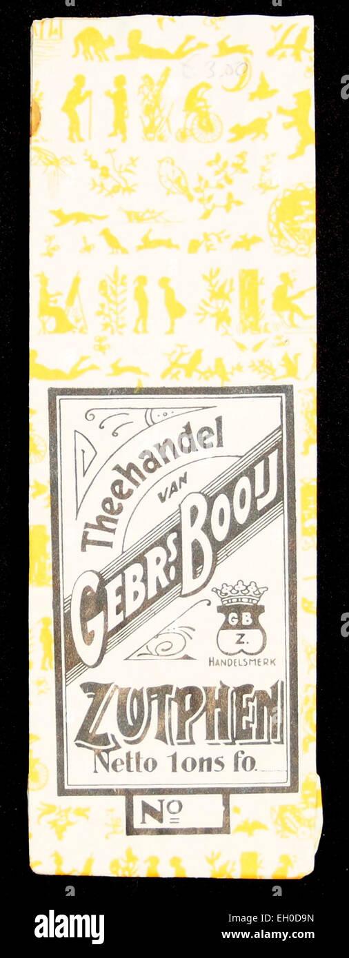 Theehandel Gebrs Booij, Zuthpen thee zakje - Stock Image