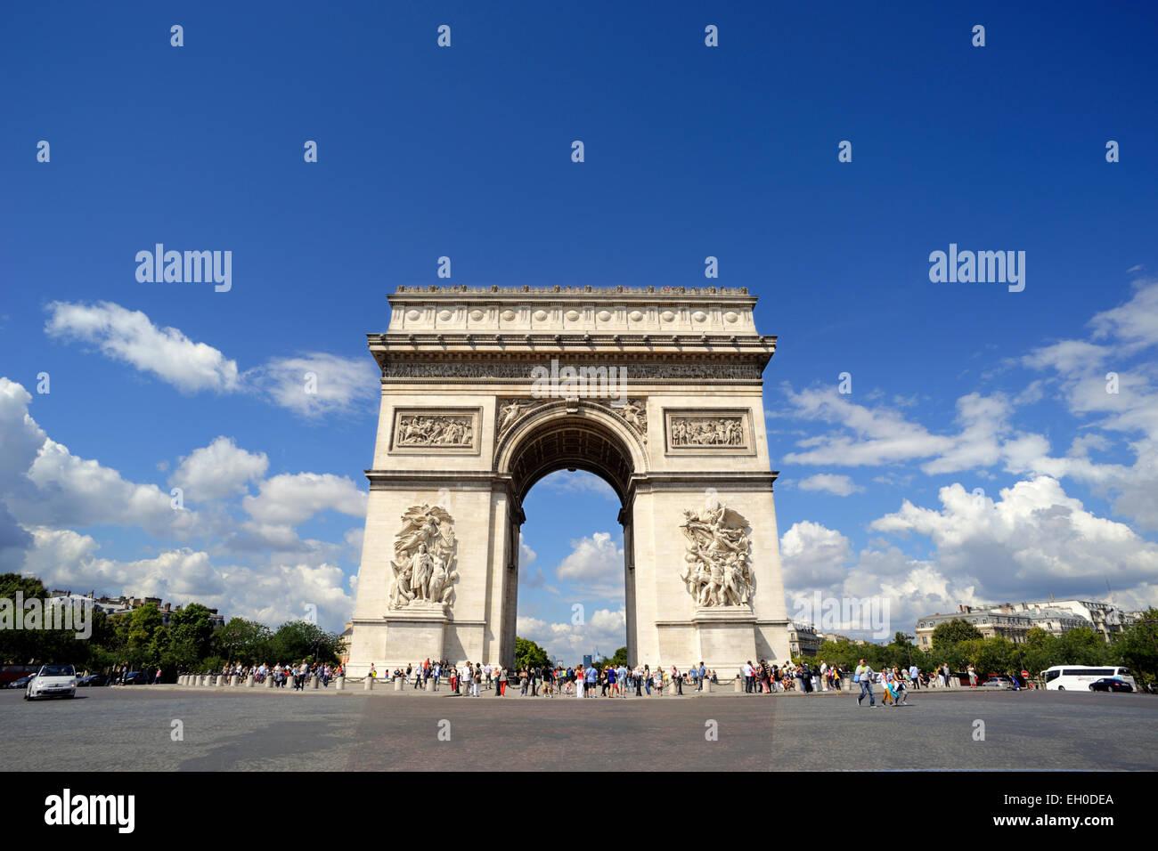 paris, arc de triomphe - Stock Image