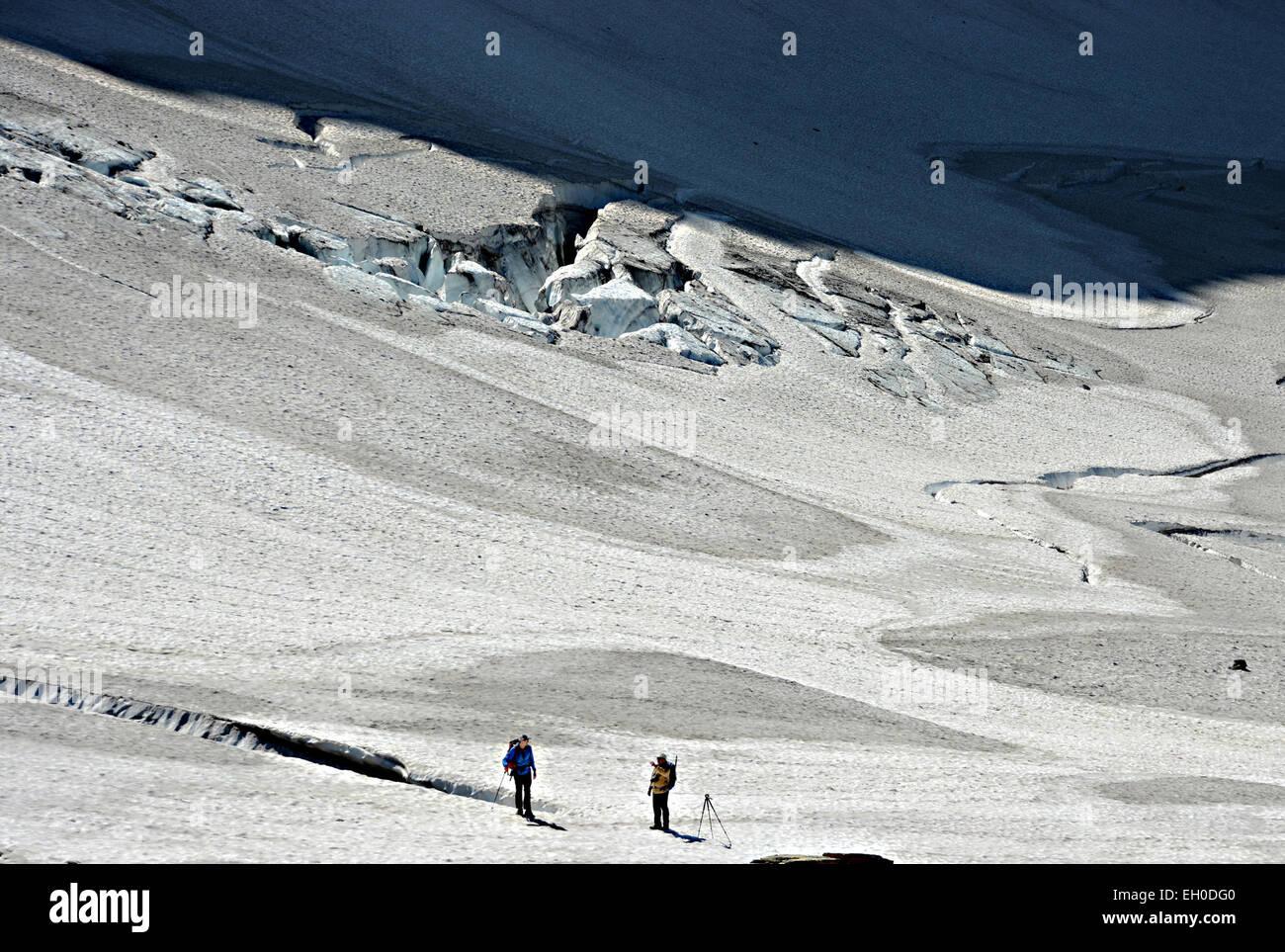 Grinnell Glacier in Glacier National Park. - Stock Image