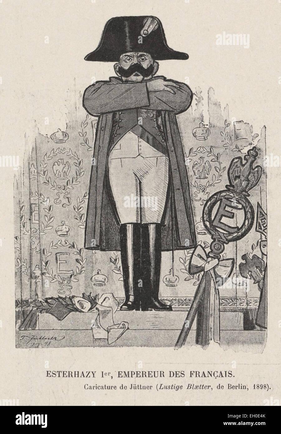 'Esterhazy 1er, Empereur des Français', caricature de Jüttner paru dans les Lustige Blätter - Stock Image