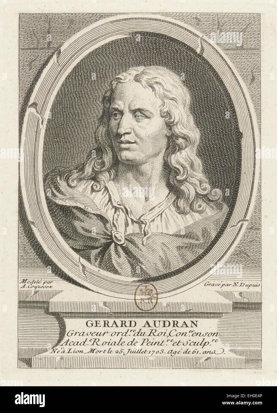 Gérard Audran (1640 - 1703), sculpteur français. - Stock Image