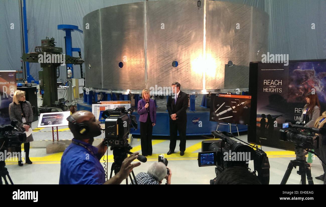 State of NASA event at NASA's Marshall Space Flight Center on Monday, Feb. 2   On Monday, Feb. 2 NASA Marshall invited Stock Photo
