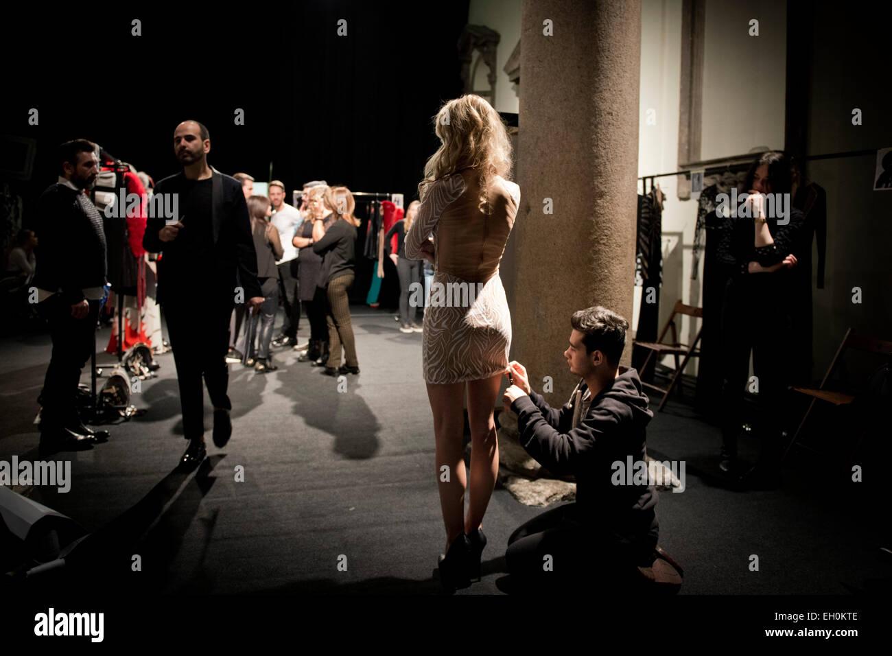 Milan, Fashion week, Mario Dice - Stock Image