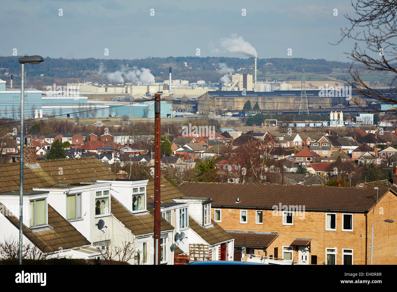 Deeside is the name given to a predominantly industrial conurbation of towns and villages in Flintshire close to - Stock Image