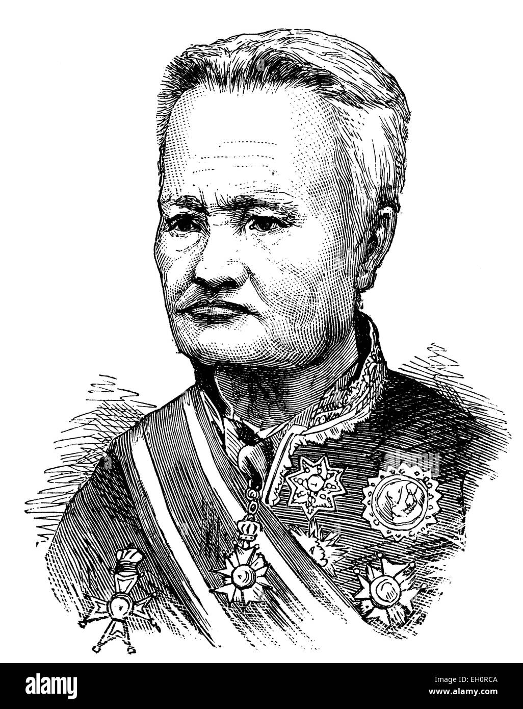 Suriwongse, Somdet Chao Phraya Borm Maha Si Suriyawongse, 1808 - 1883, King and Regent of Siam until 1868, historic - Stock Image
