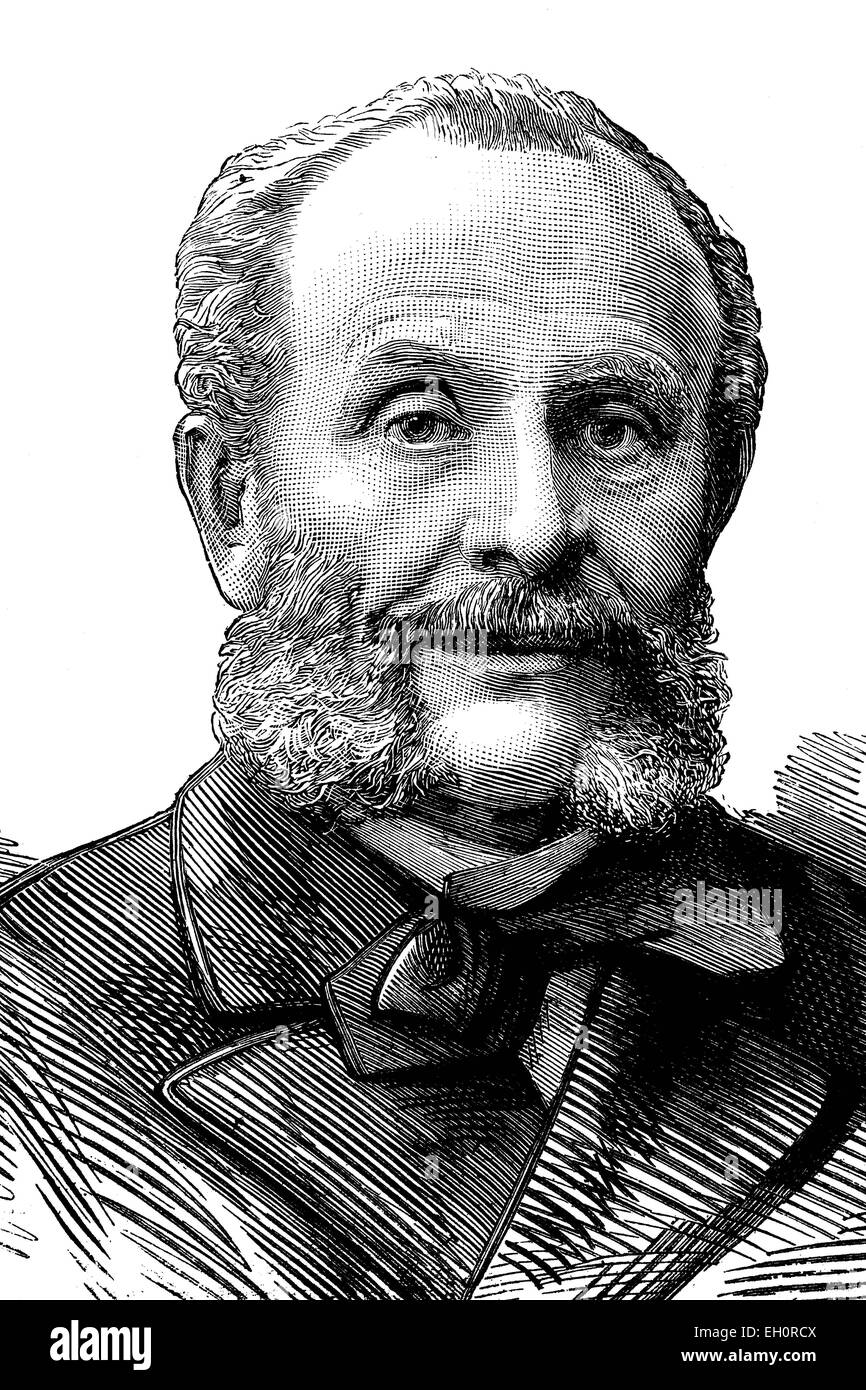 Nicolas Carlovitch de Giers, Nikolai Karlowitsch de Giers, 1820 - 1895, Russian minister of foreign affairs, historic - Stock Image