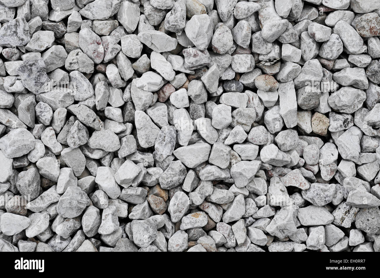 background made of a closeup of a pile of crushed stone - Stock Image