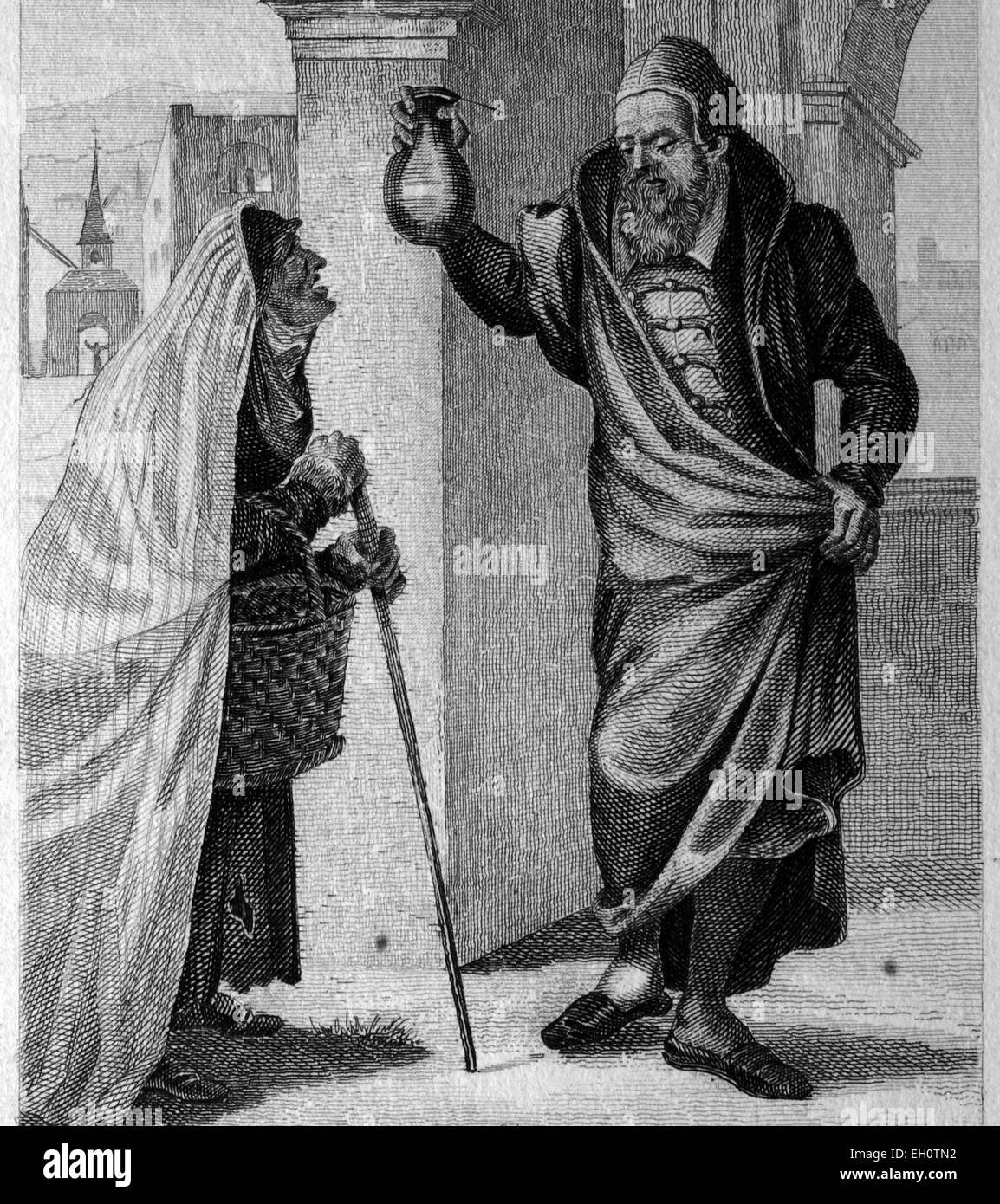 Doctor in the 16th Century, historical illustration - Stock Image
