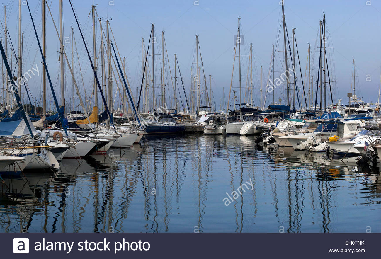 Marina of Antibes, Alpes-Maritimes - Stock Image