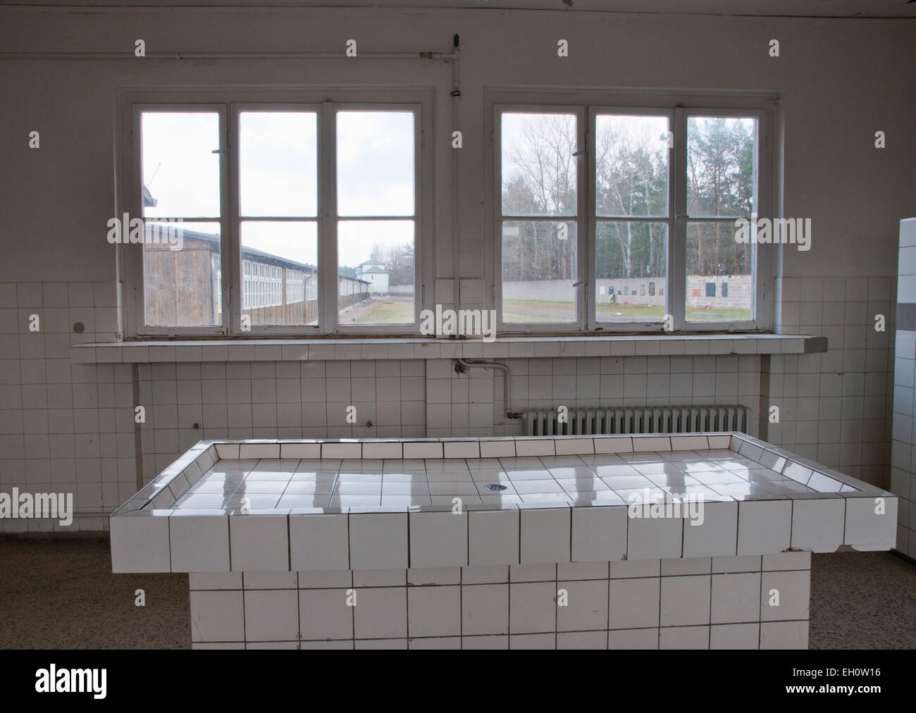 Pathology building in Sachsenhausen concentration camp, Oranienburg, Germany - Stock Image