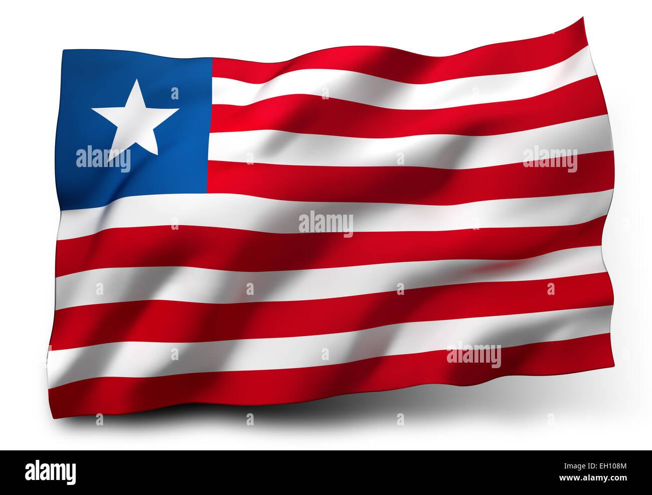 Liberian Flag Stock Photos & Liberian Flag Stock Images - Alamy