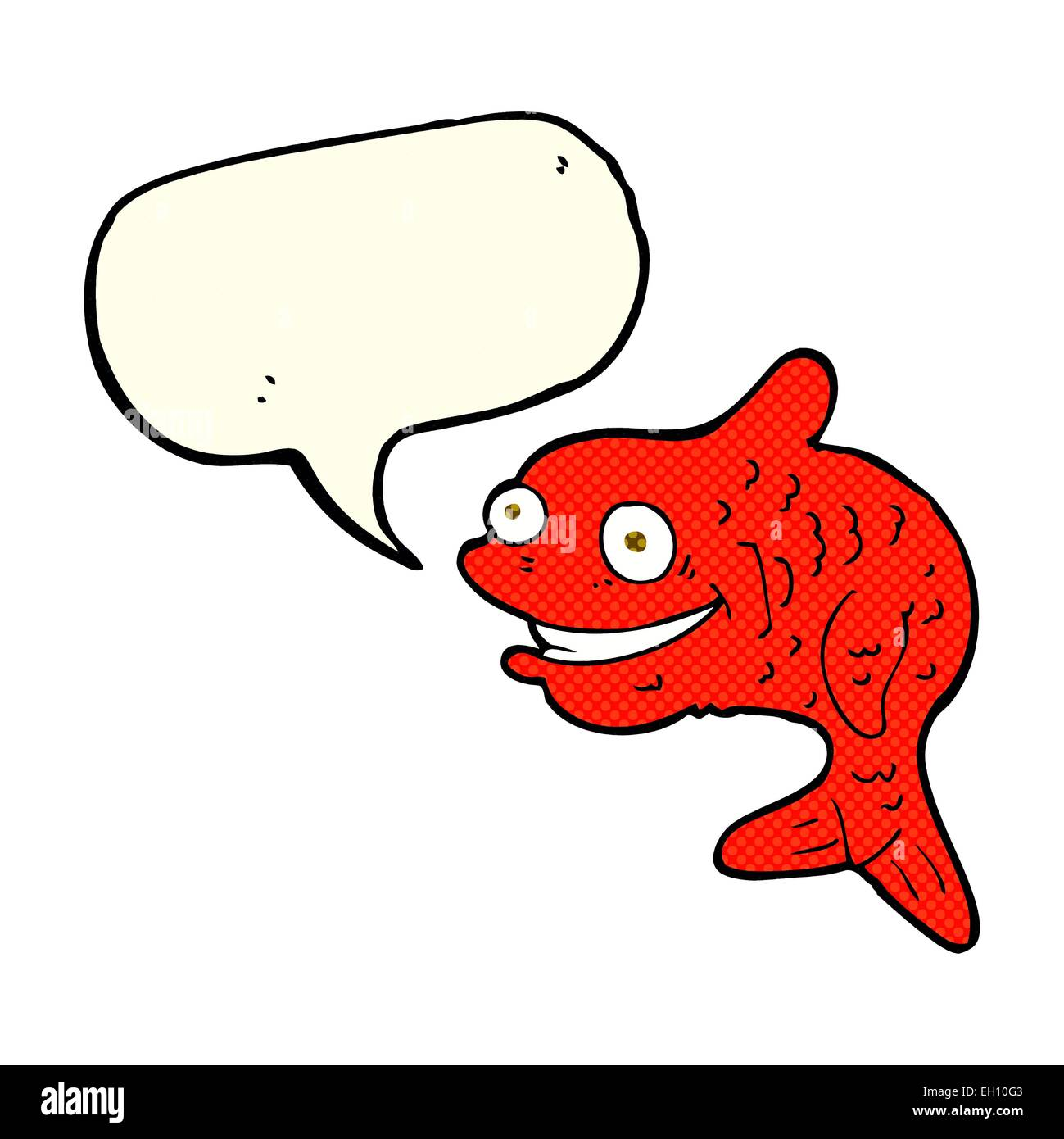 Cartoon Happy Goldfish Bubble Stock Photos & Cartoon Happy Goldfish ...
