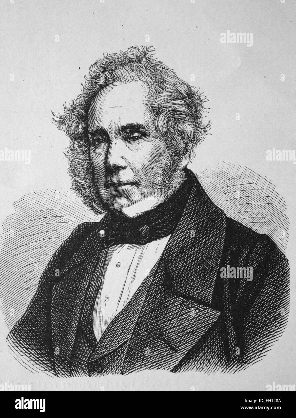 Henry John Temple, 3. Viscount at Palmerston, 1784 - 1865, britischer Premierminister, historischer Holzschnitt, - Stock Image