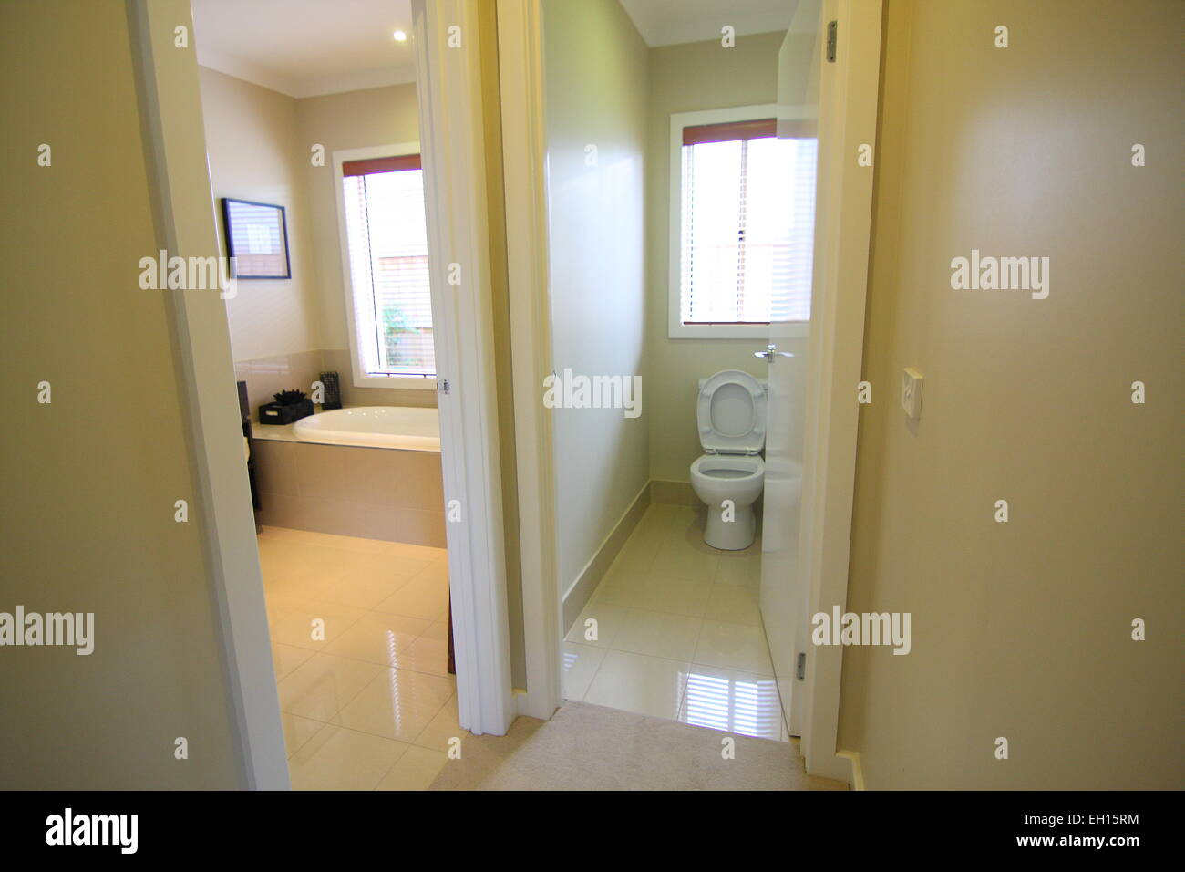 Modern Bathroom With Separate Toilet Stock Photo 79317160 Alamy