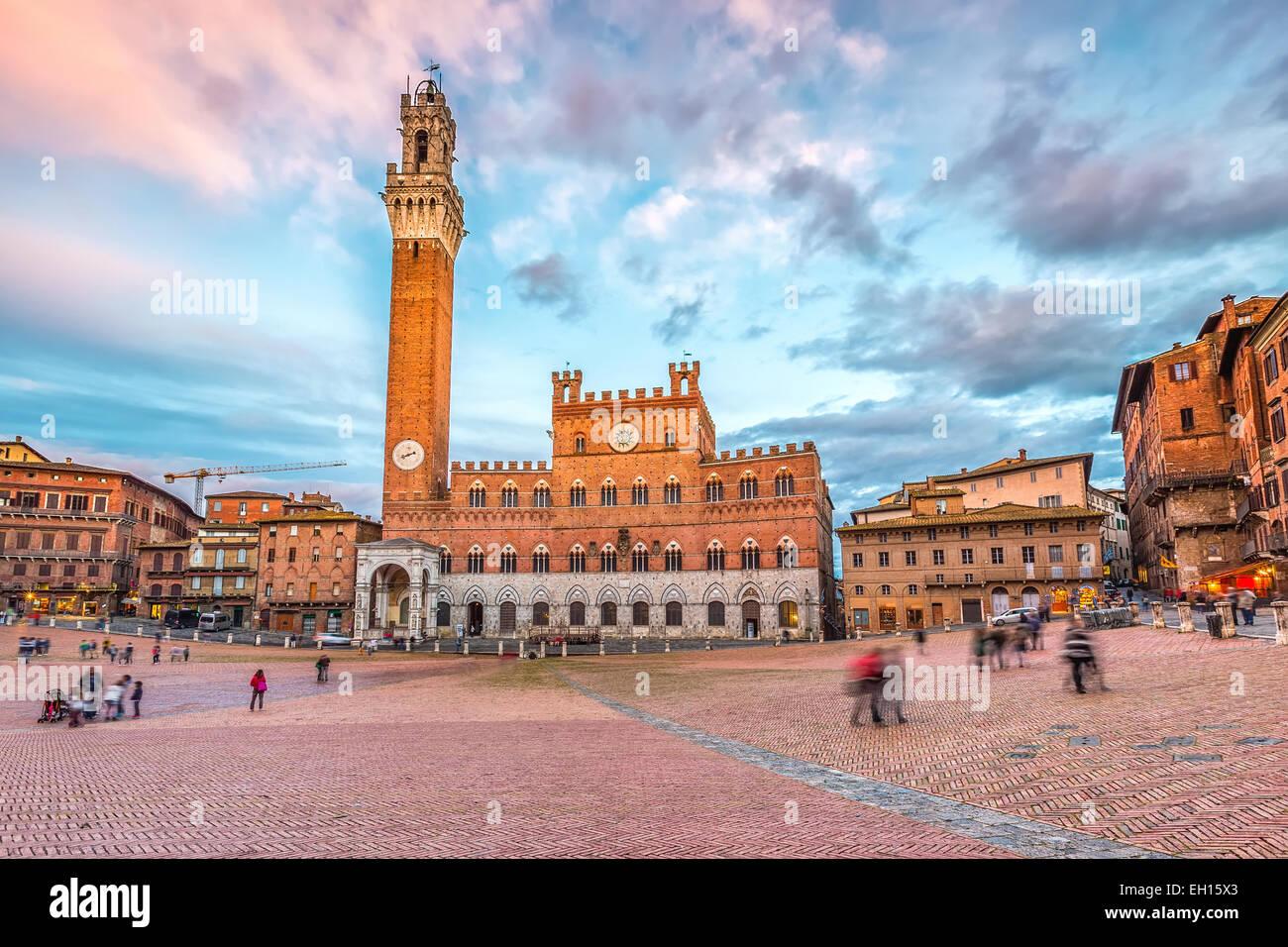 Piazza del Campo in Siena - Stock Image