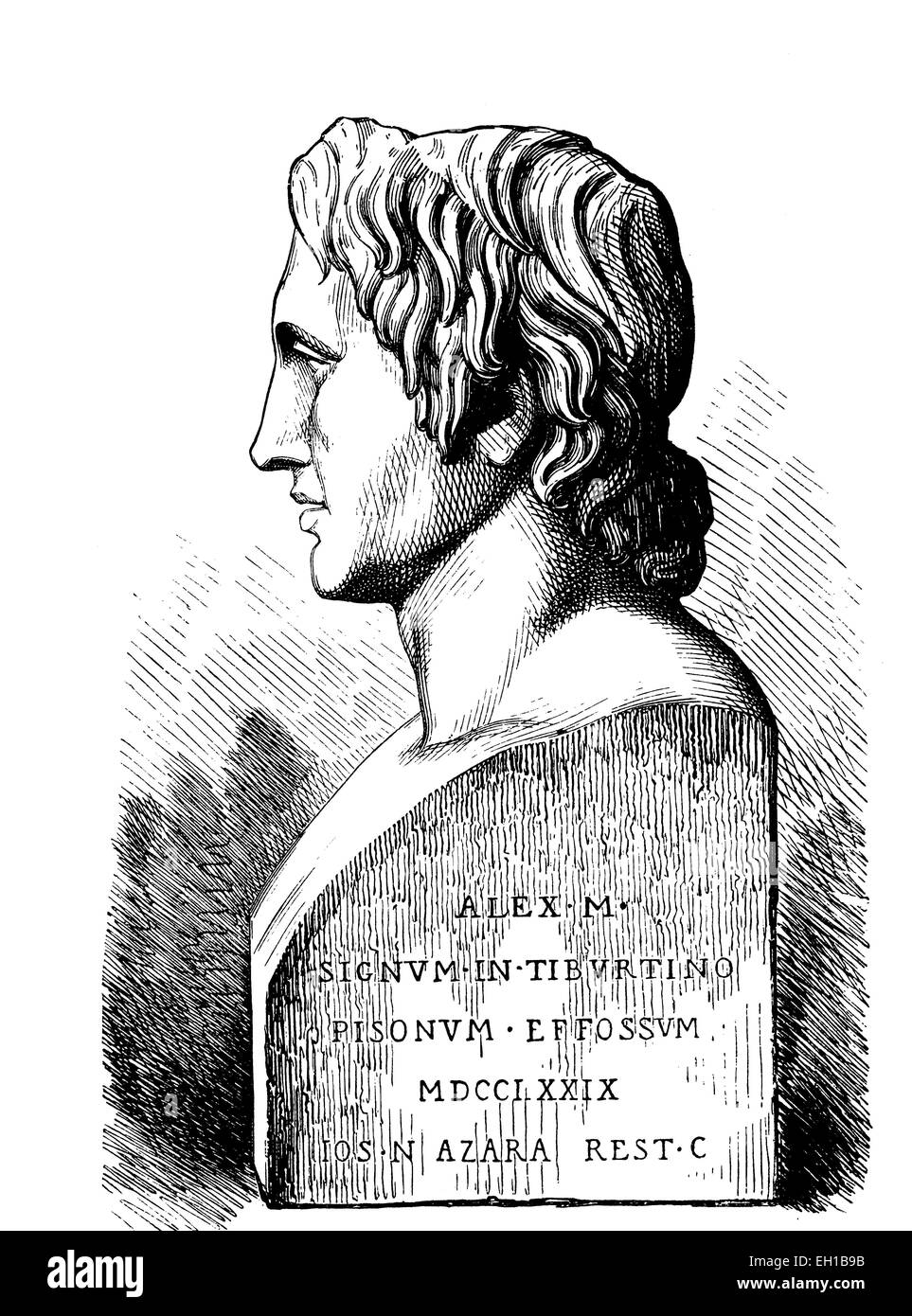 Alexander der Grosse, Alexander III. von Makedonien, 356 v.Chr.-323 v.Chr., Koenig von Makedonien und Hegemon des - Stock Image