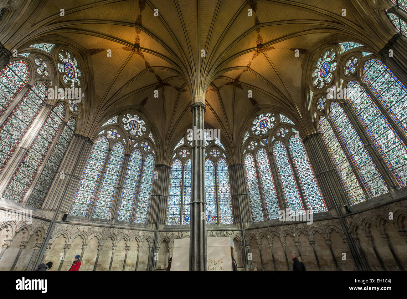Chapter House Salisbury Cathedral Wiltshire Gb Uk Stock