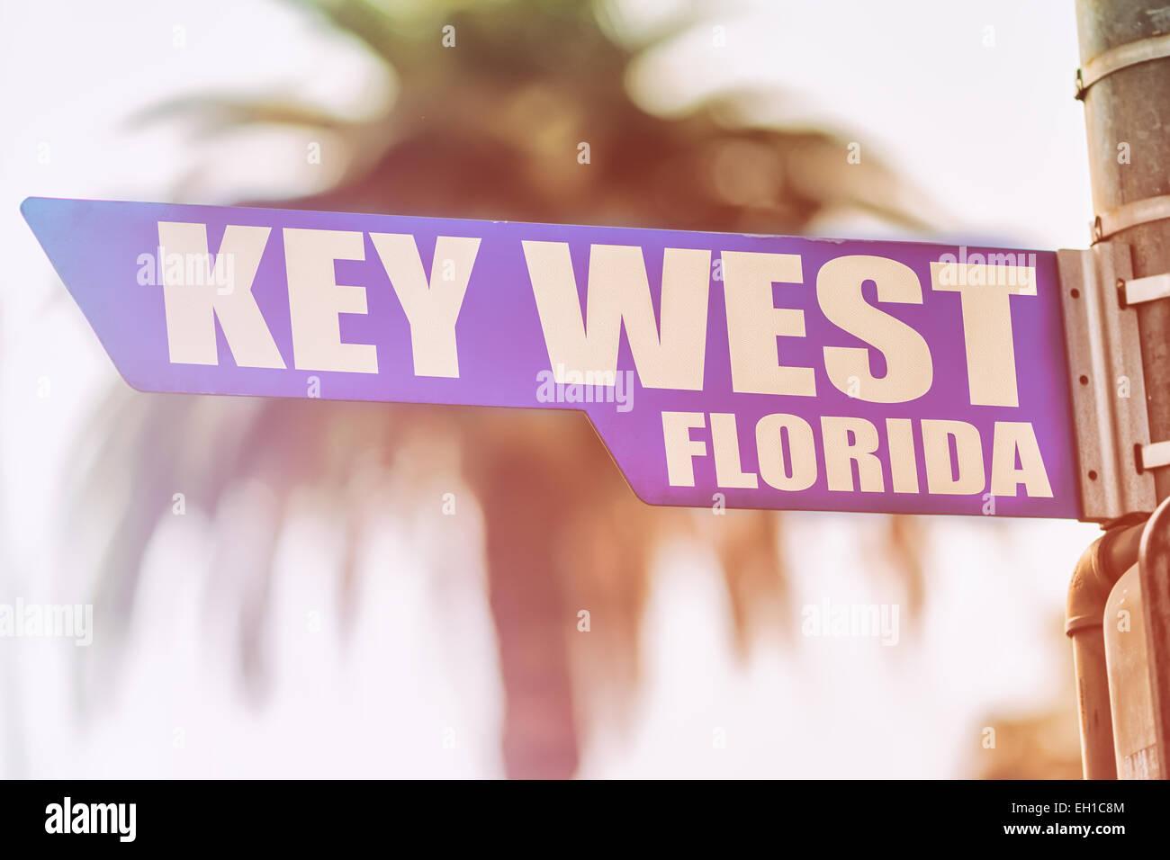 Key West Florida Street Sign - Stock Image
