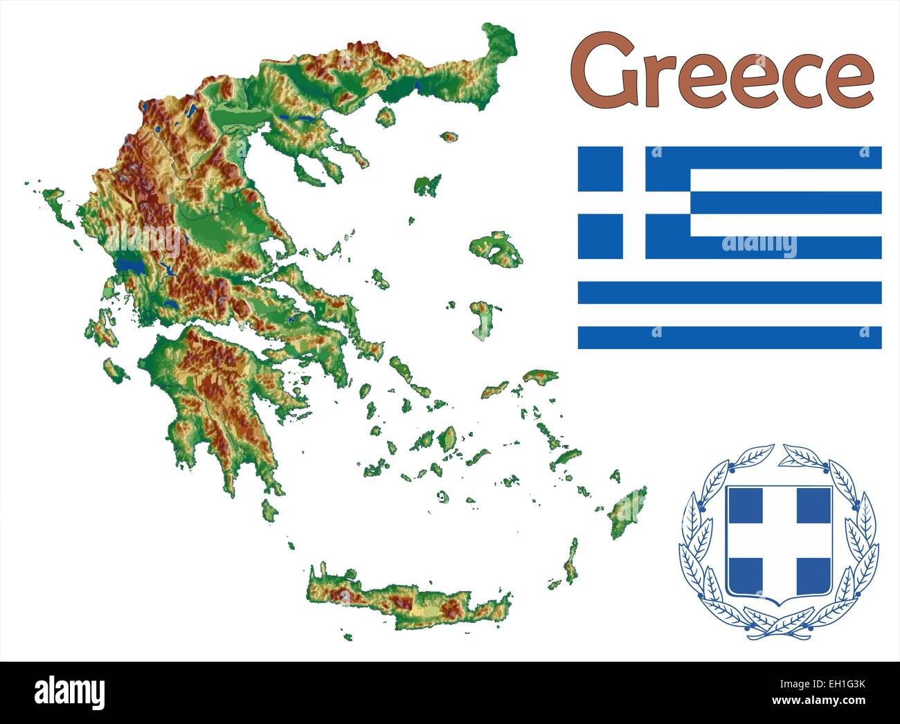 Map Of Greece Stock Photos & Map Of Greece Stock Images - Alamy