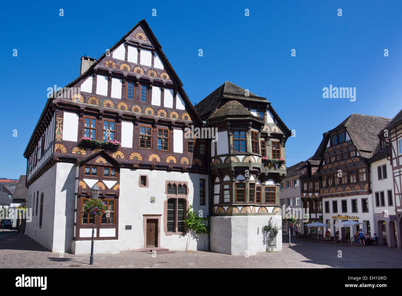 dean's house from 1561, hoexter, north rhine-westphalia, germany, europe - Stock Image